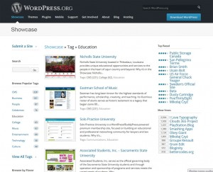 Sitios web educativos realizados con WordPress