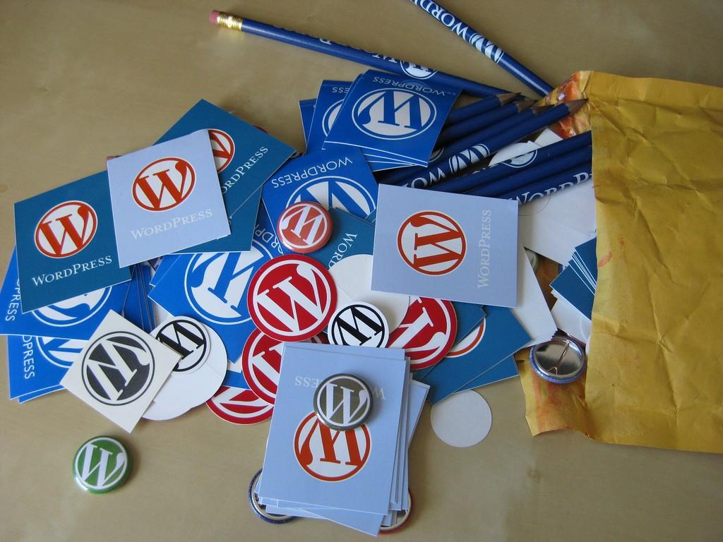 WordPress stickers & badges, por Vero Pepperrell, en Flickr