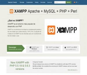 Sitio web de XAMPP