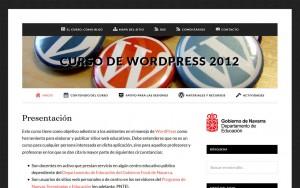 Formación sobre WordPress