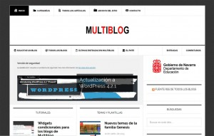 Multiblog, plataforma de blogs educativos del PNTE