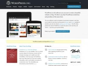 Página principal de WordPress.org