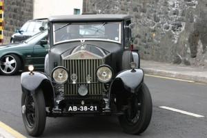 Rolls Royce, en la exhibición de coches antiguos