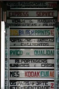 Anuncio publicitario en las calles de Funchal, Madeira